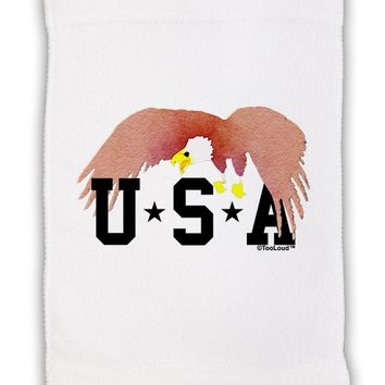 "Bald Eagle USA Micro Terry Sport Towel 11""x18 by TooLoud"