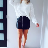 Fill My Days With Joy Sweater: White