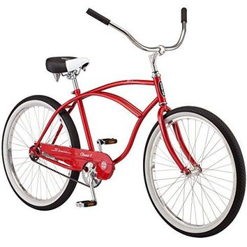 "Schwinn Men's Classic 1 26"" Wheel Cruiser Bicycle, Red, 14""/Medium"
