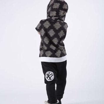 Boys Pants-Kids Black Harem Pants -Yoga Pants-Toddler Harem Pants - Girls Black Pants-Toddler Baggy Pants -Kids Baggy Pants -Black and white