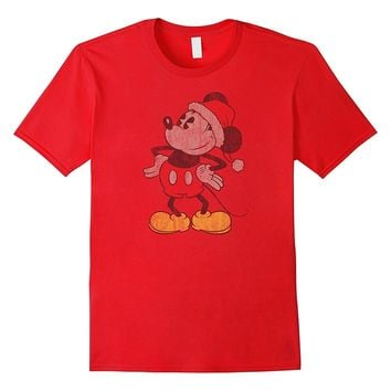 Disney Vintage Christmas Mickey Mouse T Shirt