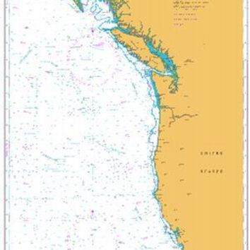 British Admiralty Nautical Chart 4801: North Pacific Ocean, West Coast of United States and Canada, Mexican Border to Dixon Entrance