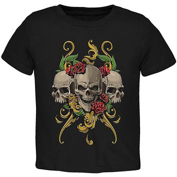 Skulls and Roses Toddler T Shirt
