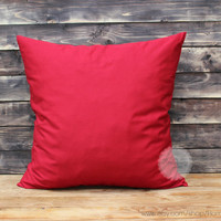 Christmas pillow decorative throw pillows red pillow cover throw pillows red throw pillows cotton throw pillow cover red 16x20 inches pillow