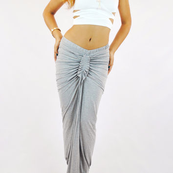 (amp) Cut out structured ivory crop top