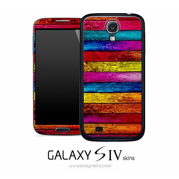 Neon Stained Wood Skin for the Galaxy S4