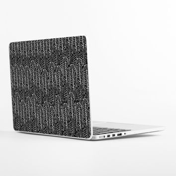 Black and White Feather Laptop Skin