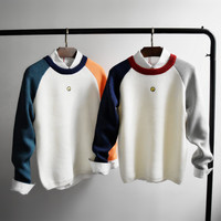 Men's Colored Arm Pullover Sweater