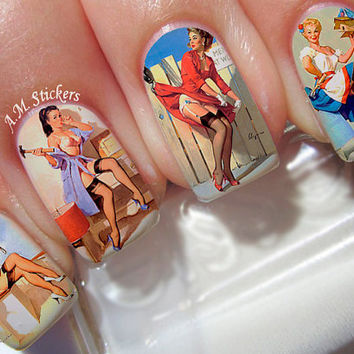 Pin Up Girls Nail Decals