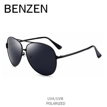 BENZEN Vintage Aviation Sunglasses Men Polarized Male Sun Glasses Driver Driving Mirror Glasses Shades With Case B9251