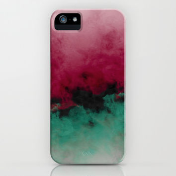 Zero Visibility Poinsettia Ombre iPhone & iPod Case by Caleb Troy