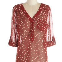 ModCloth Mid-length 3 Heart to Resist Top