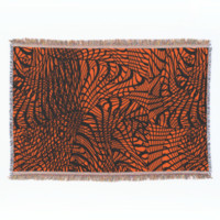 Funky Modern Zen Tangle Patterned Print Throw