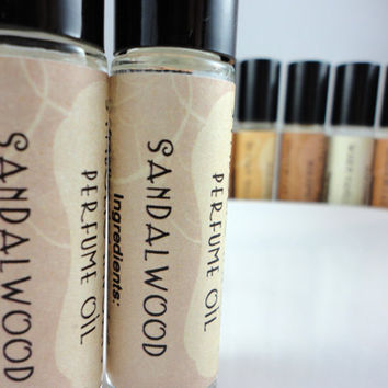 Sandalwood Perfume Oil Roll On Perfume by SymbolicImports on Etsy
