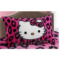 Boy Girl Cartoon Hello Kitty Pillowcase/Kids School Single Bed Pillow Cover/Children Spiderman Fleece Pillowslip