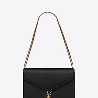 SAINT LAURENT ‎LARGE CASSANDRA BAG WITH MONOGRAM SLIDER IN SMOOTH LEATHER ‎ | YSL.COM