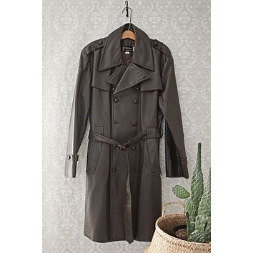 Vintage Spy  Belted Trench Coat