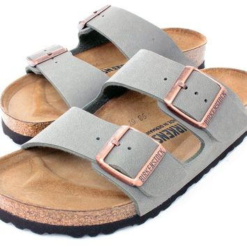 Arizona 2-Strap Women's Sandals in Stone Birko-Flor