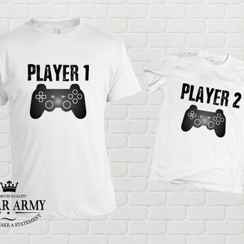 Father son matching shirts, Player 1 Player 2 Shirts, Dad and Baby Matching Shirts, Matching Family Shirts, Father's Day