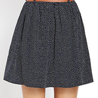 Dotted and Ruffled Skater Skirt