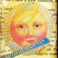 Sun Collage ACEO  ATC Card One Of A Kind OOAK Sun Framed Art Home Decoration Mixed Media Collage Handmade Art Artist made