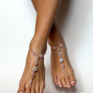 Swarovski Crystal Beaded Barefoot Sandals