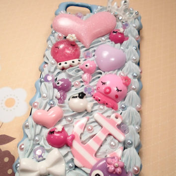 Under the Sea Kawaii Decoden Case for iPhone 5 by Lucifurious