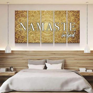 Namaste In Bed Canvas Set