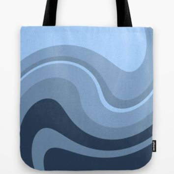 Blue wave. Soft abstract #vector pattern #design. by I'm Blue