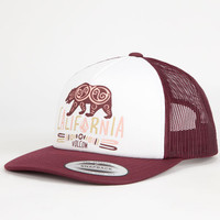 Volcom Nacho Womens Trucker Hat Burgundy One Size For Women 25969132001