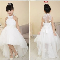 Baby Child Kids Girls Princess Party Evening Wedding Tailing Dress Skirt Clothes = 1932736836