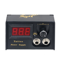 Black D100 High Stability Power Supply With LCD Display for All Kinds of Tattoo Machines