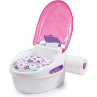Potty Training Chair Seat w Lid,Wipes and Toilet Paper Holder Learning System
