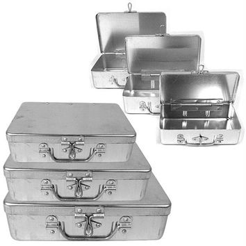 Stalwart  3 Pc Aluminum Storage Box w- Lockable Clasp