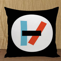 Twenty one pilots logo pillow case custom zippered pillow case one side and two sides
