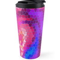 Pink Purple Blue and Magenta Abstract Art Mosaic Pattern