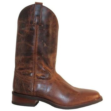 LMFONIG Dingo Wellington - Brown Leather Western Boot