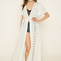 Embroidered Longline Cardigan | Forever 21 - 2000222363
