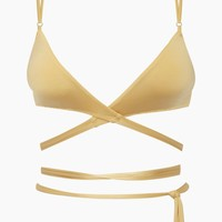 That 90's Vibe Wrap Bikini Top - Gold