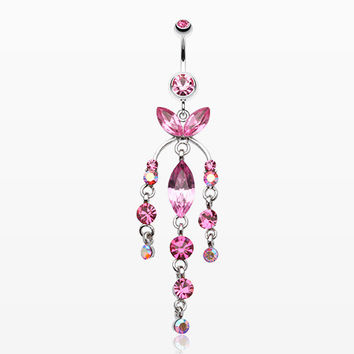 Jeweled Chandlier Belly Ring