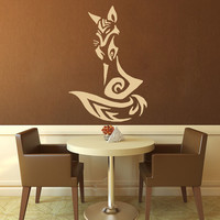 Sitting Fox - Wall Decal - Medium