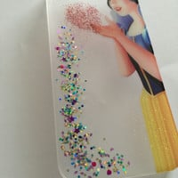 Snow White iPhone 6+, 6, 5s, 5c, 5, 4s, 4 phone case Sparkly Disney inspired hard resin glitter case