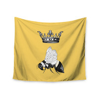 "Catherine Holcombe ""Queen Bee"" Canary Yellow Wall Tapestry"