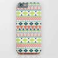 Aztec Stripe iPhone & iPod Case by Janet Broxon