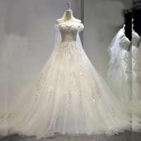 2017 New Design Crystal Wedding Dress Ball Gown Sexy Lace Wedding Gown V Neck Lace Up Vestido De Noiva