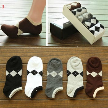 Mens Fashion Comfortable Sports Ankle Socks Hight Quality Best Gift (5 PCS) Socks-28