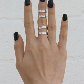 Double Pack Cuff Rings - SILVER