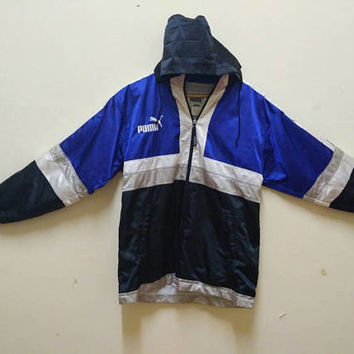 Puma Hoodie windbreaker waterproof big logo Embroidery sports wear vintage