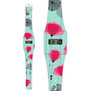 Fashion Pappwatch Made of Paper Tyvek - Coquelicot
