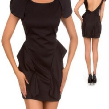 Black Shoulder Wing Dress -- Sassy Deal